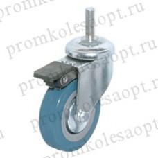 Аппаратное поворотное колесо болтовое крепление с тормозом SCtgb25 (102) 50 мм