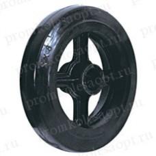 Большегрузное обрезиненное колесо без кронштейна D63 (405) 160 мм