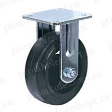 Большегрузное обрезиненное колесо неповоротное FCd46 (303) 100 мм