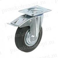 Колесо промышленное поворотное с тормозом SCb97 (204) 80мм