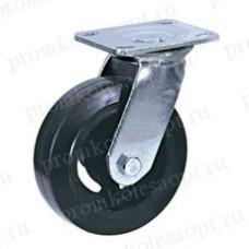 Большегрузное обрезиненное колесо поворотное SCd42 (301) 100 мм