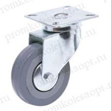 Аппаратное поворотное колесо серая резина SCg25 (103) 50мм