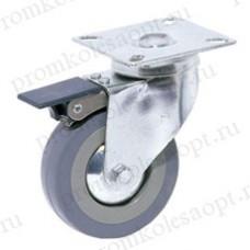 Аппаратное поворотное колесо с тормозом SCgb25 (104) 50мм
