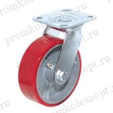 Полиуретановое колесо большегрузное поворотное SCp42 (304) 100мм
