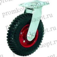 Колесо большегрузное поворотное рифленая (литая)  резина (324) 160мм