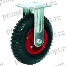 Колесо большегрузное неповоротное рифленая (литая) резина (325) 160мм