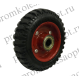 Колесо большегрузное  рифленая (литая) резина без кронштейна (408) 125 мм