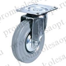 Колесо промышленное поворотное серая резина SG 63 (17) 160мм