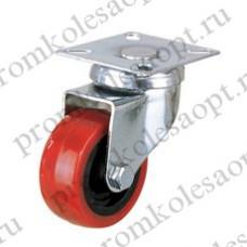 Колесо аппаратное красное из ПВХ поворотное