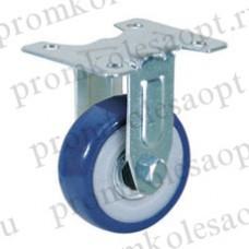 Колесо аппаратное синее из ПВХ неповоротное