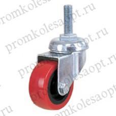 Колесо аппаратное красное из ПВХ болтовое крепление