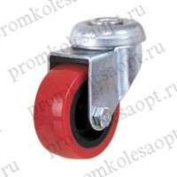 Колесо аппаратное красное из ПВХ под болт PV With (131Н) 50 мм