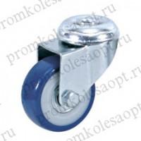 Колесо аппаратное синее из ПВХ под болт