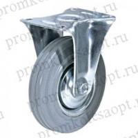 Колесо промышленное неповоротное серая резина FG 63 (17) 160мм