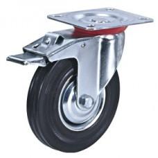 Колесо промышленное поворотное с тормозом SCb42 (204) 100мм
