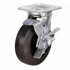 Колесо большегрузное поворотное обрезиненное с тормозом SCdb42 (302) 100 мм